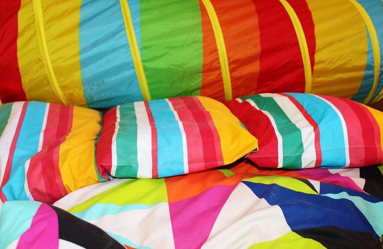 barevné polštáře