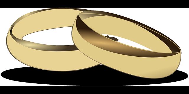 zlaté prsteny, kreslené