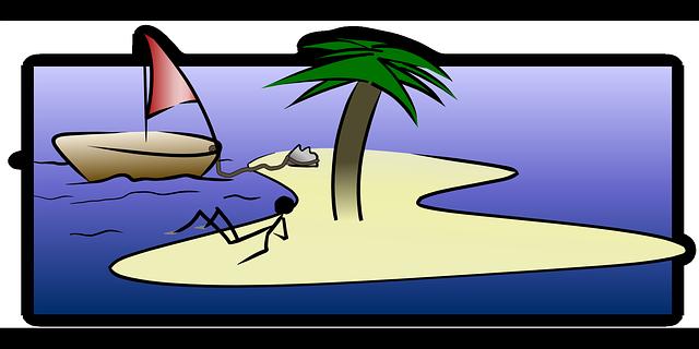 osoba na ostrově